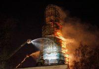 Pożar w  XVI-wiecznym Monasterze Nowodziewiczym w Moskwie