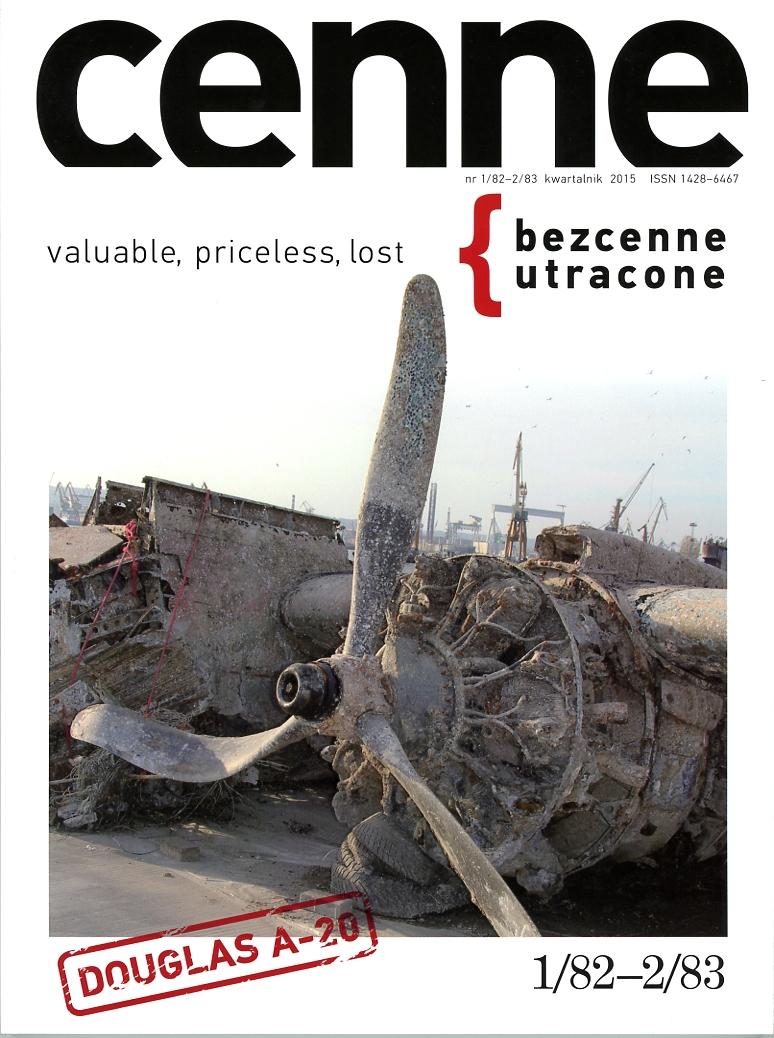 Cenne, bezcenne / utracone , 2015, Nr 1(82)-2(83) Book Cover