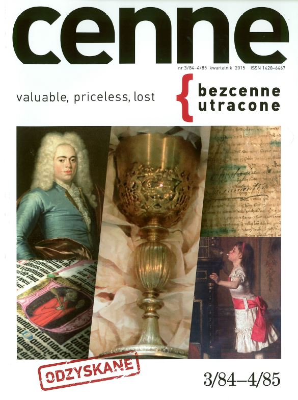 Cenne, bezcenne / utracone , 2015, Nr 3/84-4/85 Book Cover