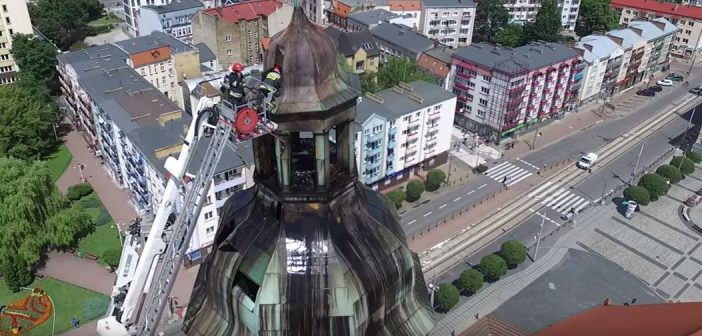 Pożar wieży katedralnej w Gorzowie