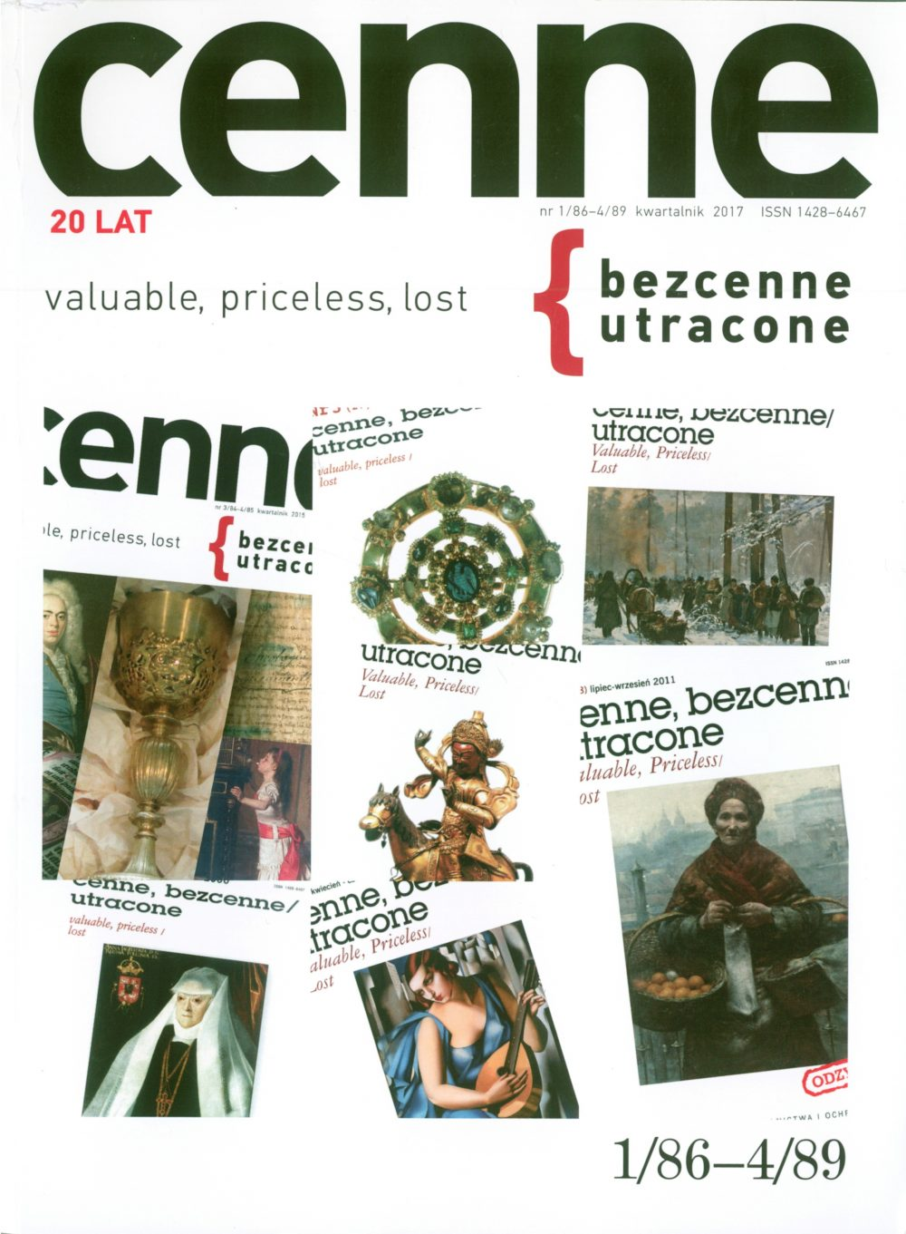 Cenne, bezcenne / utracone, 2017, Nr 1/86-4/89 Book Cover