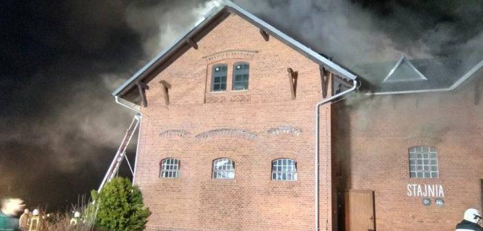 Pożar w zabytkowym budynku