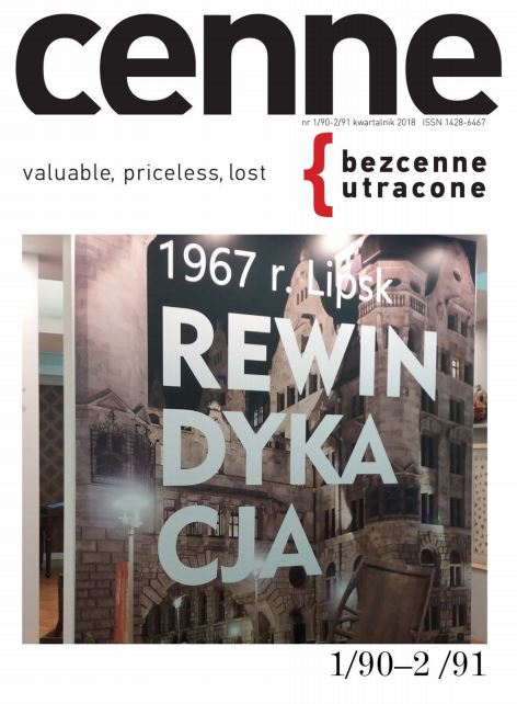 Cenne, bezcenne / utracone , 2018, Nr 1(90)-2(91) Book Cover