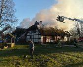 Pożar w skansenie w Klukach