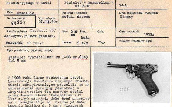 Skradziona broń z Muzeum Tradycji Niepodległościowych
