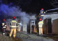 Pożar w dolnośląskim muzeum kolejnictwa. Spłonął wagon zabytkowego pociągu
