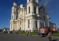 Pożar kościoła w Budsławiu na Białorusi