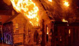 Pożar kościoła w Glasgow