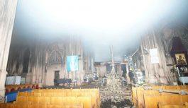 Pożar kościoła św. Mikołaja w Kijowie