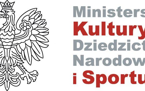 Logo Ministerstwa Kultury, Dziedzictwa Narodowego i Sportu.