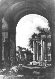 """Johann Oswald Harms, """"Ruiny antyczne I"""", 2 poł. XVIII w."""