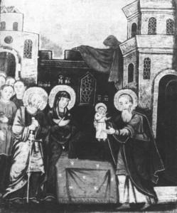"""Stefan Dzengałowycz, """"Poświęcenie w świątyni"""", 1682"""