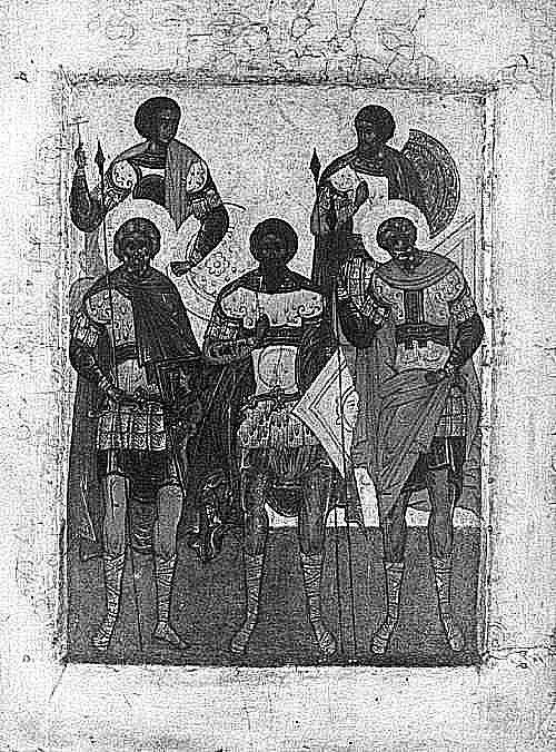 """""""Pięciu świętych wojowników"""", Rosja, XV w."""