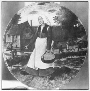 """Peter Bruegel st., """"Kobieta przenosząca żar"""", 1 poł. XVI w."""